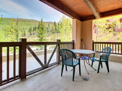 Photo for Ski-in/ski-out mountain view condo with a shared pool, hot tub & game room!