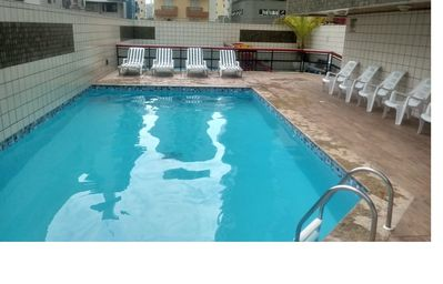 Photo for Beautiful and comfortable apt, with pool and barbecue, 3 bedrooms, 3 toilets, 2 places