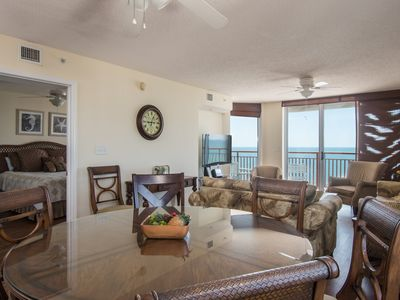 Photo for South Shore - 1107 Corner unit with glorious panoramic vistas of the beach from the balcony!