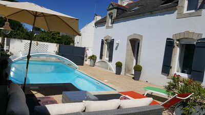 Photo for Charming villa, heated indoor pool & in the heart of the Ria Etel, Carnac