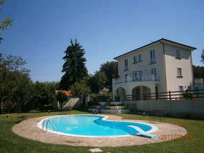 Photo for Don Augustine Villa with pool surrounded by greenery