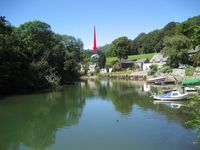 Character comfy home surrounded by secluded space with views and close walk to the Helford river
