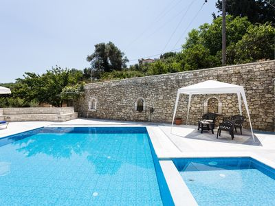 Photo for Private stone built villa with a huge pool in a peaceful enviroment!
