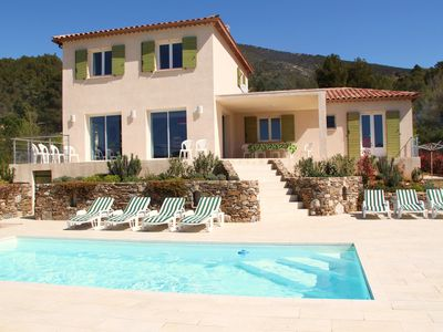 Photo for Sun Roquebrun: villa, bright and comfortable