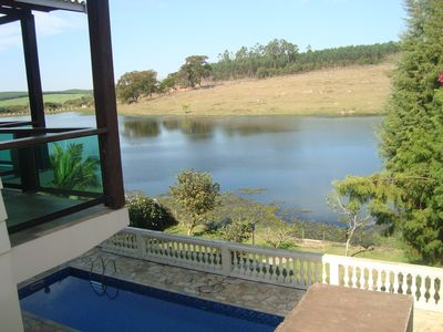 Photo for Beautiful house overlooking the lake. Next to Thermas Water Park