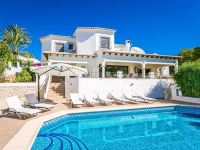 Photo for Fantastic family villa with cinema room within walking distance to Moraira town