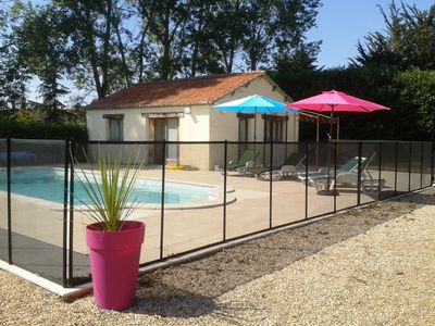 Photo for Self-catering or B&B Chateau de Bournand, 9 acres park with pool in Loire Valley