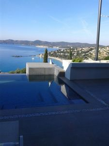 Photo for contemporary villa with pool, exceptional sea views, close to beaches