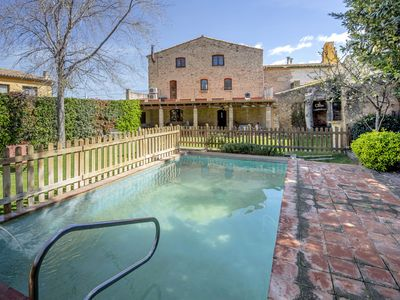 Photo for Rural house with pool in Garrigàs