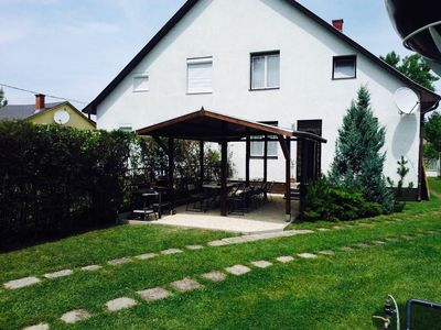 Photo for Holiday house 50 m to Balaton with footbridge and boat
