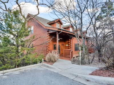 Photo for Bear Mountain Cabin tucked away in the woods just off the strip in Branson