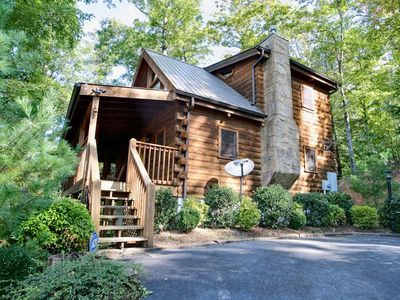 Photo for This private and cozy log cabin is situated high on a mountain top