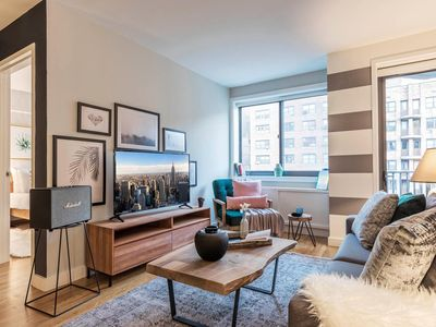 Photo for Chic Central Chelsea 1BR w/ Gym, Balcony, Doorman by Blueground