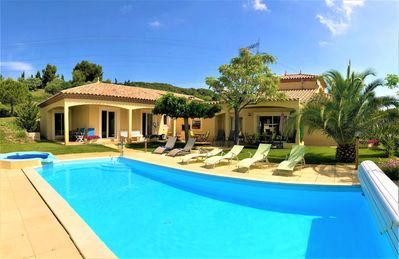 Photo for Neffies South of France villa with private pool 6 bedrooms