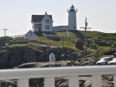 Photo for Bold Ocean Front Cottage at Nubble light house