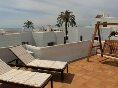 Photo for Estepona-Villacana. Apartment with large terrace and near the sea