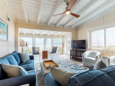 Photo for Pet friendly, oceanfront home w/ incredible views, enclosed yard, beach access!
