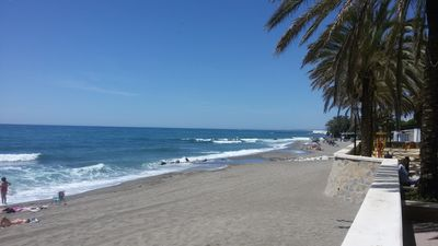 Photo for Beautiful apartment 1st line of beach and 5 minutes from Marbella