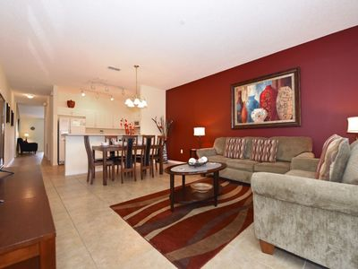 Photo for Home near Disney w/ WiFi, Resort Pool, Spa, Gym, Tennis Courts & Game Room