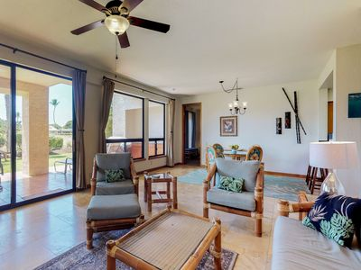 Photo for NEW LISTING! Corner condo on golf course w/lanai, pool/hot tub-great for couples