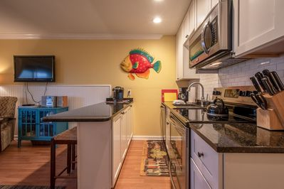 Renovated kitchen with new granite tops and appliances