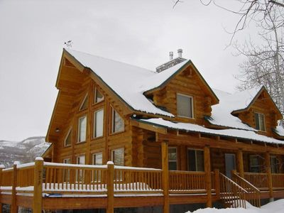 Photo for Beautiful Log Cabin Retreat Nestled 45 Minutes from Park City