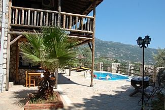 The villa, terrace and part of the stunning view