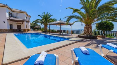 Photo for Villa with enormous terrace, children playground and outdoor kitchen