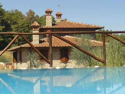 Photo for Private Villa with WIFI, private pool, A/C, TV, pets allowed, parking, close to Montepulciano
