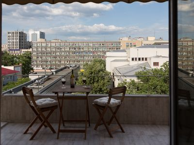Photo for Central Luxury Flat with terrace, free Ntflix & HBO Go, 500Mbps Internet