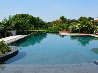 Photo for BEAUTIFUL CLIMATIZED VILLA WITH BEAUTIFUL SWIMMING POOL AND SPA BETWEEN SEA AND HILL