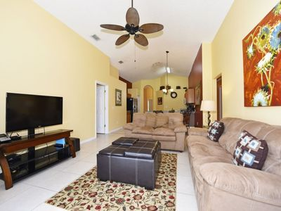Photo for SPACIOUS 5-BED VILLA w/Private Pool & Game Room in Resort Paradise, Just 2.5 miles to Disney