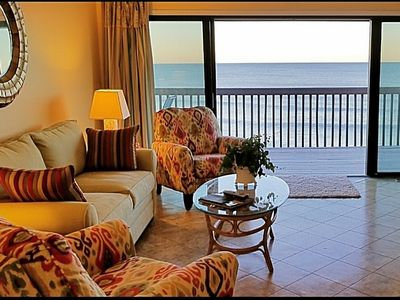 Photo for Beautiful oceanfront 2 bedroom, 2 bath condo  with elevator, pool and huge deck.