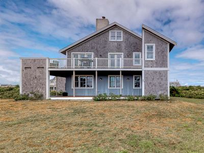 Photo for Ocean view home w/ furnished wrap-around deck & gas grill - dogs welcome!