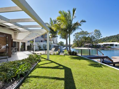 Photo for This Three Bedroom Single Level Waterfront Home Is Beautifully Furnished