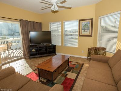 Photo for SPC 9203 - Beautiful Upstairs 2 BR w/partial Gulf views and short walk to beach