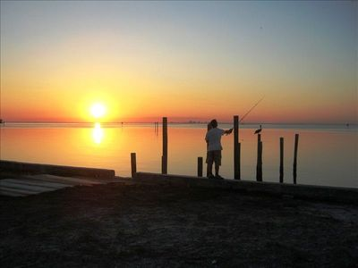 Fishing At Sunset (before new dock)