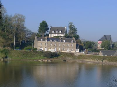 Photo for Gorgeous 200 year old stonehouse right on the lake in medieval village