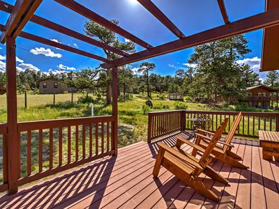 Photo for Sunny Estes Park Cabin w/ Deck + Rocky Mtn Views!