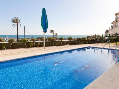 Photo for One bedroom apartment with WIFI and air con, Seafront Estepona Port near restaurants and cafes