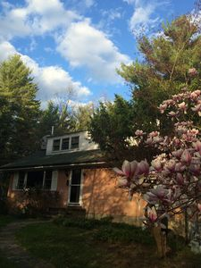 Big Pink, side entrance to Dormer ( and Main floor). Springtime, 2015
