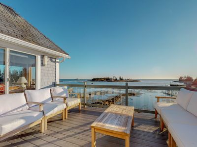 Photo for NEW LISTING! Stunning oceanfront cottage w/ private deck and ocean views!