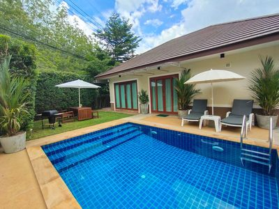 Photo for Villa with spacious garden,  modern kitchen, fine interior, barbecue grill