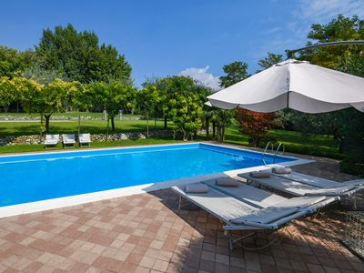 Photo for Mulino: relax in this green place with pool.