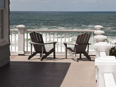 Photo for Big Ocean View with covered patio & hot tub. Quiet & secluded.