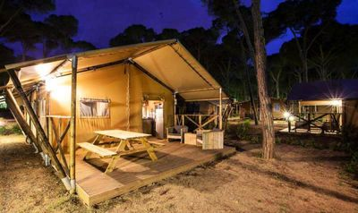 Photo for Camping de Maillac *** - Authentic Safari Tent 3 rooms 4 people Without Bathroom