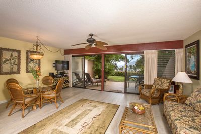 Spacious living room, lanai & lawn provide plenty of space for fun & relaxation.