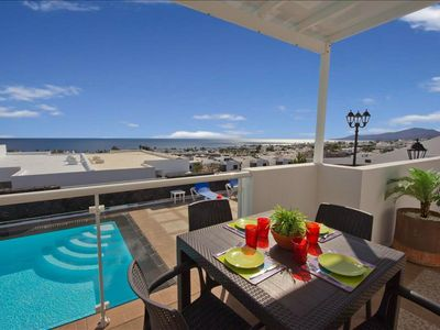Photo for Villa Okie - Lovely 3 bedroom villa - Perfect for families - Great pool area and sea views
