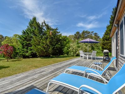 Photo for #405: Bask in the sun on a huge wrap-around deck in our updated home in Eastham.