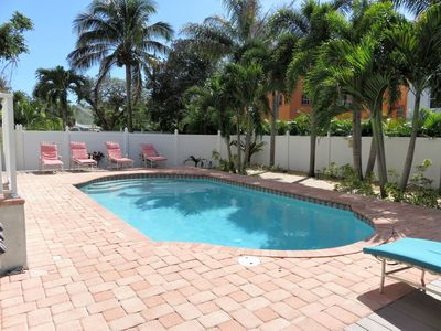 Photo for Walk to Beach and Siesta Key Village Home with Heated Pool